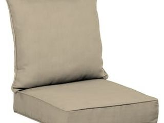 allen   roth 2 Piece Madera linen Wheat Deep Seat Patio Chair Cushion
