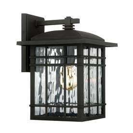 Quoizel Canyon 12 75 in H Matte Black Outdoor Wall light