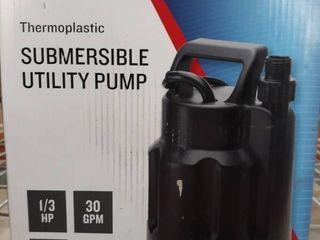 Utilitech 30 Gpm 1 3 Hp Submersible Water Utility Pump 10ft Cord
