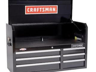 CRAFTSMAN 2000 Series 40 5 in W x 24 5 in H 6 Drawer Steel Tool Chest  Black