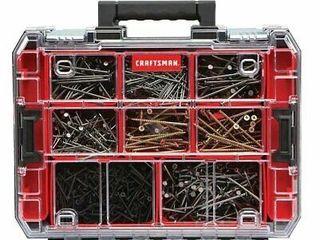 Craftsman Pro Organizers 10 compartment Plastic Small Parts Tool Organizer Box