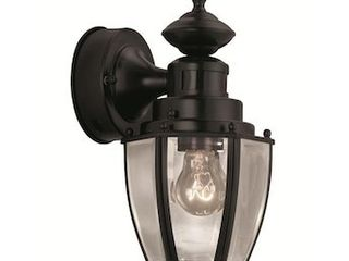 Black Motion Activated Outdoor Wall light  Portfolio 11 75 in H