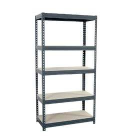 edsal 72 in H x 36 in W x 18 in D 5 Tier Steel Freestanding Shelving Unit