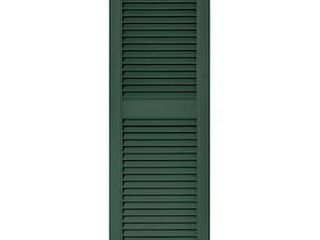 Vantage 2 Pack 14 563 in W x 47 781 in H Forest Green louvered Vinyl Exterior Shutters