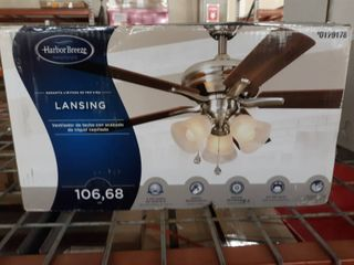 Harbor Breeze 42  Brushed Nickel Indoor Ceiling Fan light Kit 5 blade Reversible