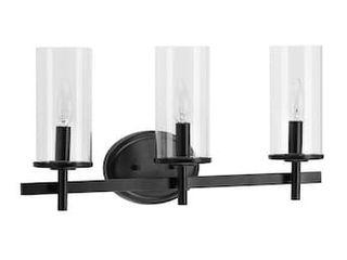 Progress lighting Strahan 3 light Black Transitional Vanity light