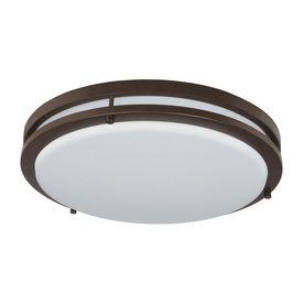 Good Earth lighting Jordan 14 in W light Bronze lED Ceiling Flush Mount light