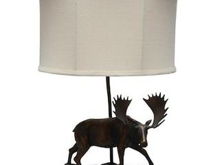 litex Ozark 22 in Bronze Table lamp with Fabric Shade