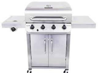 Char Broil Performance Stainless 4 Burner liquid Propane Gas Grill with 1 Side Burner