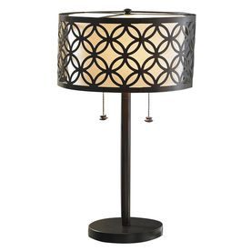allen   roth 25 in Oil Rubbed Bronze Indoor Table lamp with Metal Shade