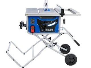 Kobalt 10 in Carbide tipped Blade 15 Amp Portable Table Saw