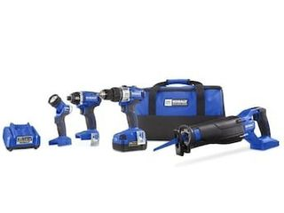 Kobalt 4 Tool 24 Volt Max Brushless Power Tool Combo Kit with Soft Case  Charger Included and 1 Battery Included