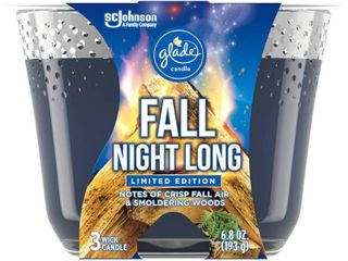 Glade 3 Wick Candle Fall Night long   6 8oz