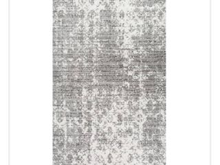 nulOOM Smoky BDSM08A 203 2  x 3  Grey Area Rug