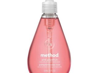Set of 6   Method Gel Hand Soap Pink Grapefruit   12 fl oz