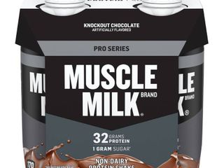 Set of 6   Muscle Milk Chocolate NON DAIRY PROTEIN SHAKE
