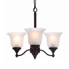 Portfolio Roseall 3 light Oil Rubbed Bronze Chandelier