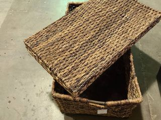 Threshold trunk Abaca Hand Woven   damaged see photos