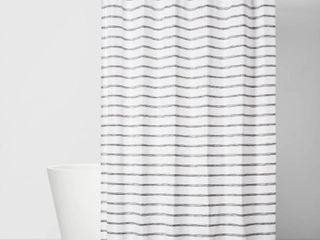 Stripe Shower Curtain Gray   Room Essentials