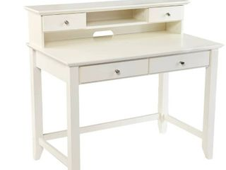 Copper Grove Barton Transitional White Wood Secretary Desk  Retail 310 26