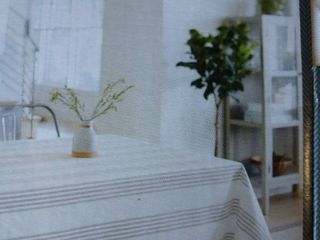 Gray Stripe Tablecloth   Threshold  120x60