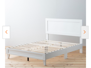 leah Classic Wood Platform Bed   Twin Xl   White