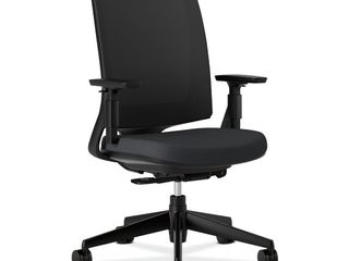 HON lota Office Chair   Mid Back Mesh Desk Chair or Conference Room Chair  Black  HON2281VA10T  Retail 383 99
