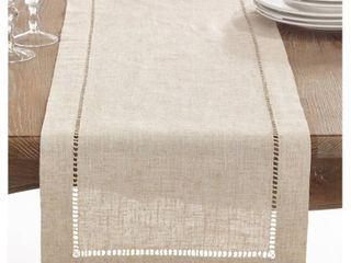 light Brown Toscana Table Runner 16 x72    Saro lifestyle