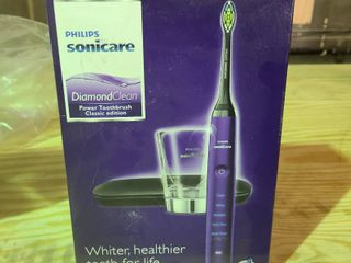Philips Sonicare Diamondclean Electric Toothbrush   Purple   With 6 Brushes