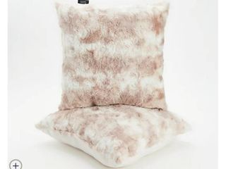 Dennis Basso 18  x 18  Set of 2 Faux Fur Pillows