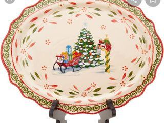 Temp tations limited Edition Holiday Oval Platter