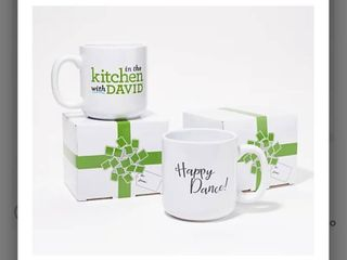 Set of  2  In the Kitchen with David 18 oz Mugs with Gift Boxes