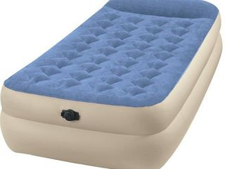 Intex Twin 18  Raised Pillow Rest Airbed Mattress with Built in Pillow