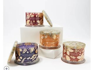 HomeWorx by Harry Slatkin Special Edition Set of  4  14oz 3 Wick Candles
