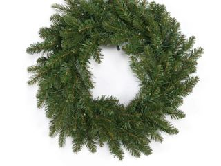 Martha Stewart Indoor Outdoor 22  Prelit Winter Wreath Clear