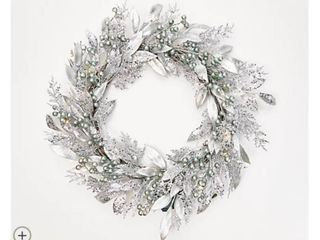 Martha Stewart 22  Metallic Greenery Wreath