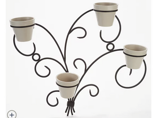Martha Stewart Small Fleur De lis Accent Sconce with Pots