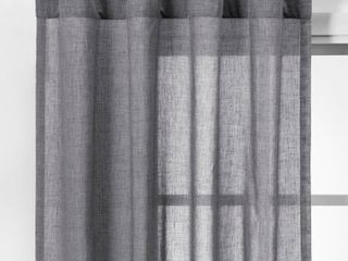 2pk 63 Curtain Panels Dark Gray   Made By Design  Grey