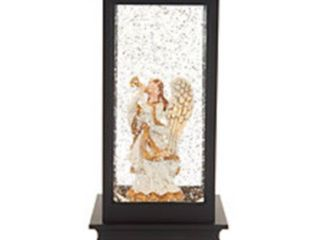 Illuminated Holiday Water lantern with timer By lori Green Angel as is