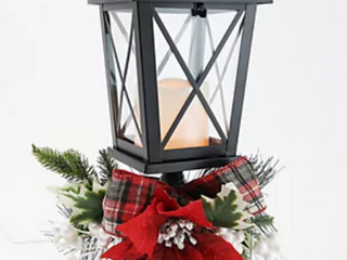 19  Illuminated Embellished Pedestal lantern by Valerie