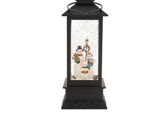 Illuminated Holiday Water lantern with Timer by lori Greiner  Snowman 3 1407 reviews