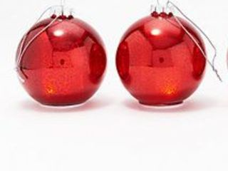 Set of 2 Mini Illuminated Mercury Glass Ornaments by Valerie