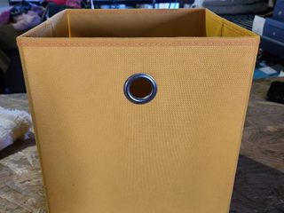 Yellow Cube Storage Box linen