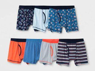 Boys  7pk Boxer Briefs   Cat   Jack Blue XS