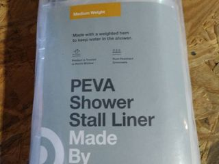 PEVA Shower Stall liner   Medium Weight
