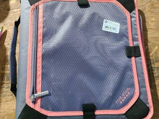 Mead Zipper Binder Pink and Gray