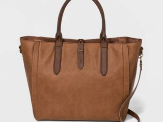 Tote Handbag with Toggle Hardware   Universal Thread Cognac  Red