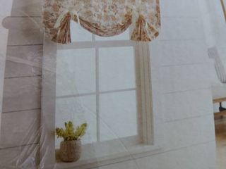 63  X 42  Floral light Filtering Balloon Shade Cream Threshold Curtain