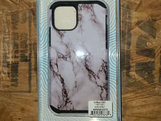 For Apple Iphone 11 Pro White Black Marble Hard Tpu Hybrid Plastic Case Cover