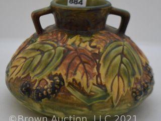Roseville Blackberry 568 4  vase